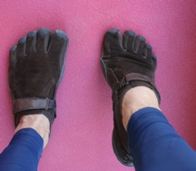 stretch the toes for barefoot running